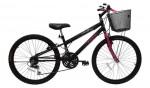 Bicicleta Feminina Aro 24 Cairu Bella Rebaixada